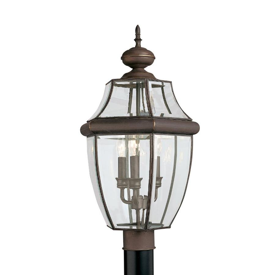 Shop Sea Gull Lighting 3 Light Lancaster Outdoor Post Fixture at