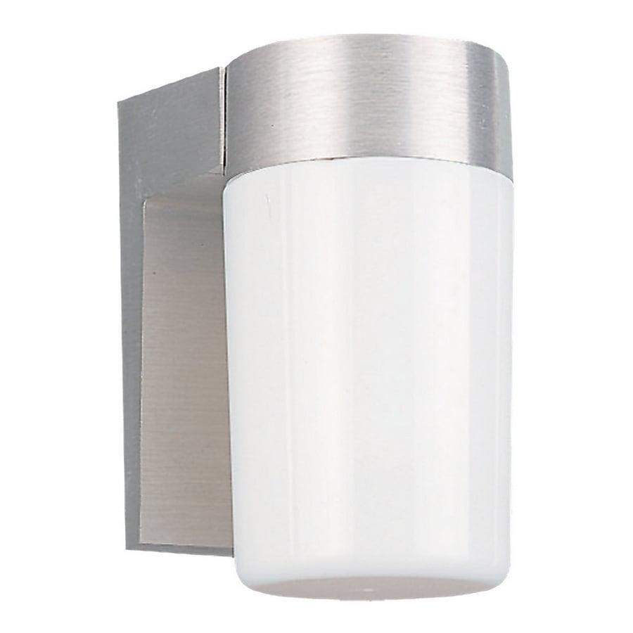 Sea Gull Lighting 6.25-in H Satin Aluminum Outdoor Wall Light