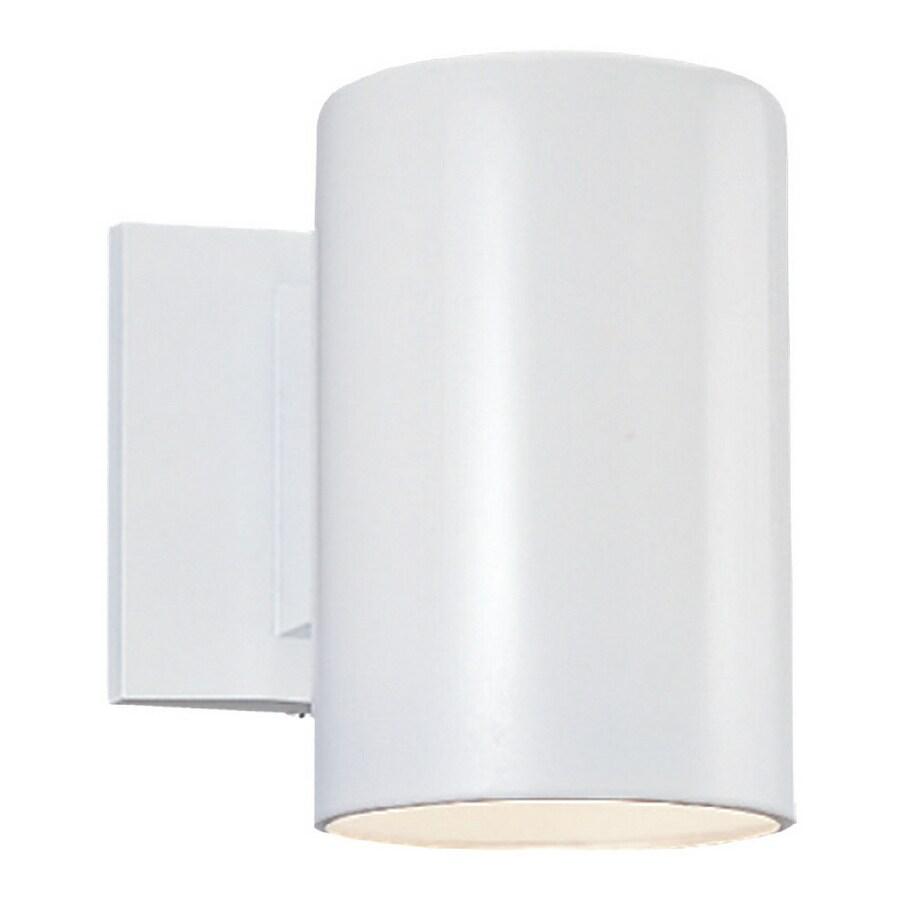 Sea Gull Lighting 7-in H White Dark Sky Outdoor Wall Light