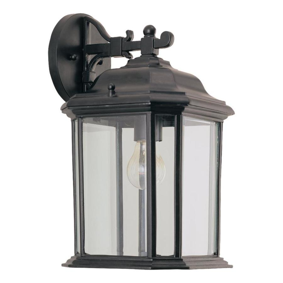 Sea Gull Lighting 14.5-in H Black Outdoor Wall Light
