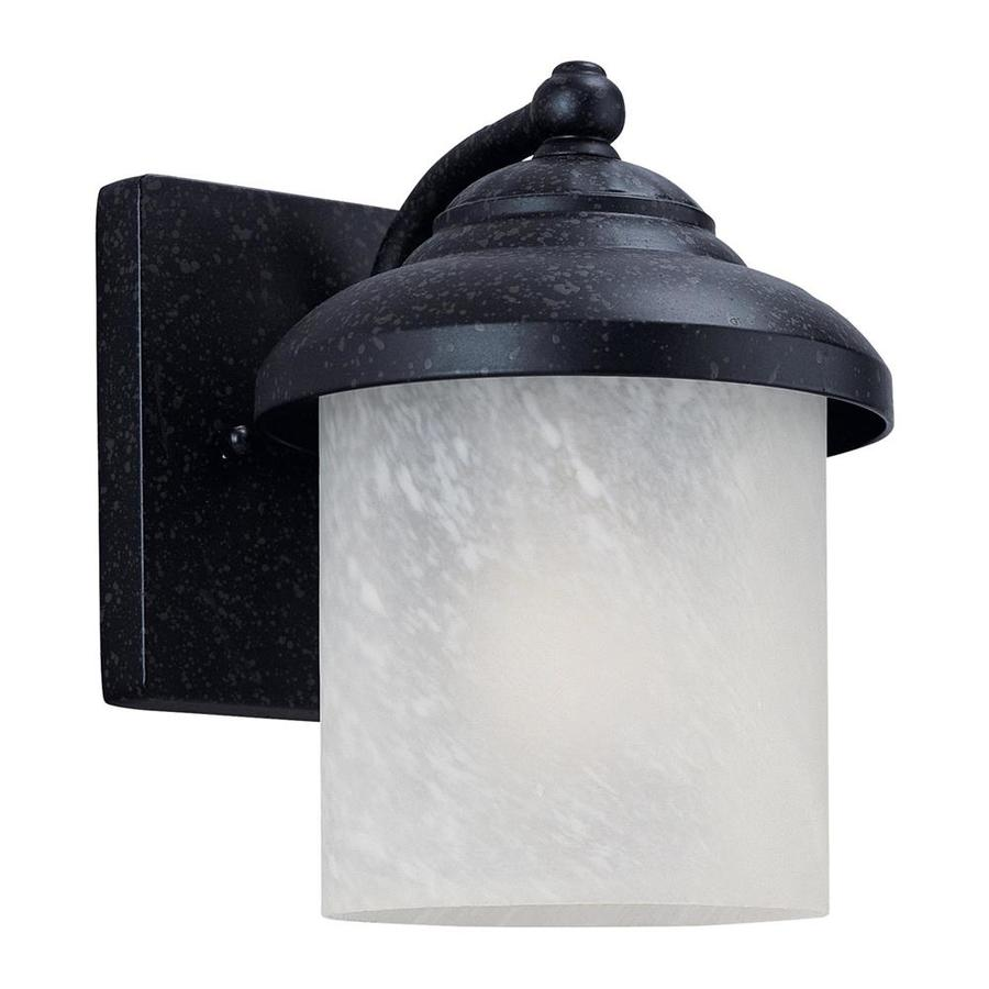 Sea Gull Lighting 8.25-in H Forged Iron Outdoor Wall Light