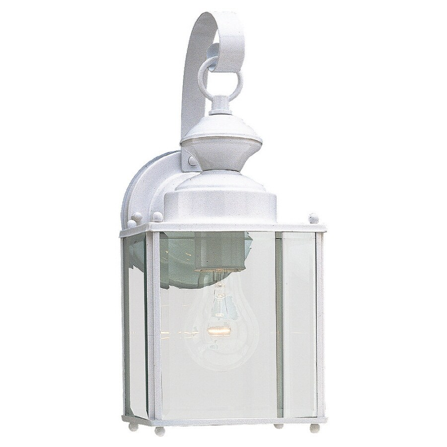Sea Gull Lighting 12.5-in H White Outdoor Wall Light