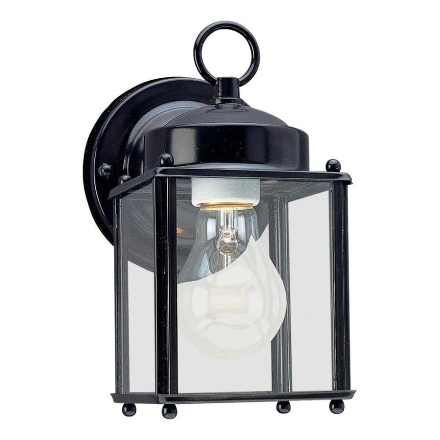 Sea Gull Lighting 8.25-in H Black Outdoor Wall Light