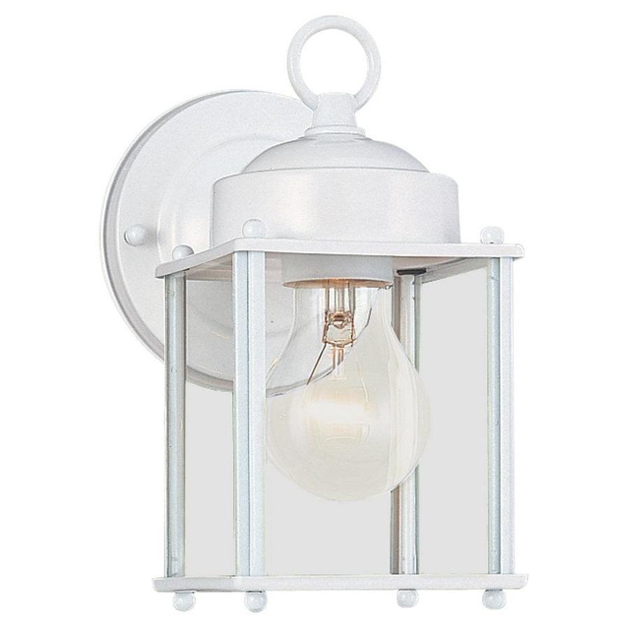 Sea Gull Lighting 8.25-in H White Outdoor Wall Light