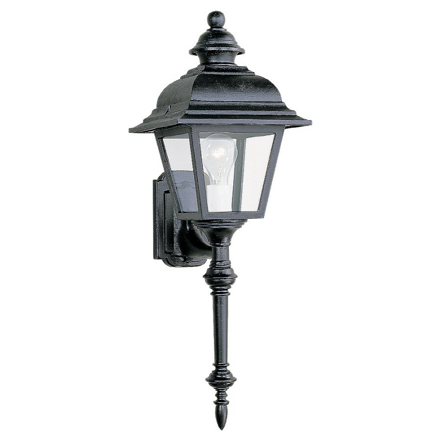 Sea Gull Lighting 26-in H Black Outdoor Wall Light