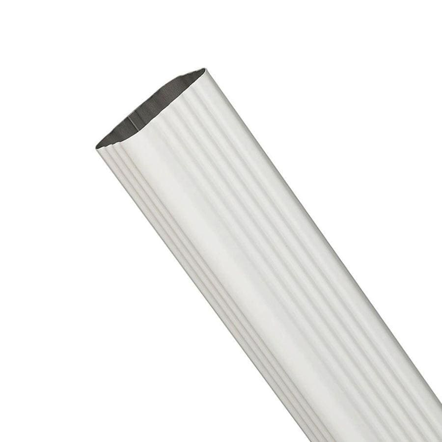 Spectra 2-in White Metal Downspout