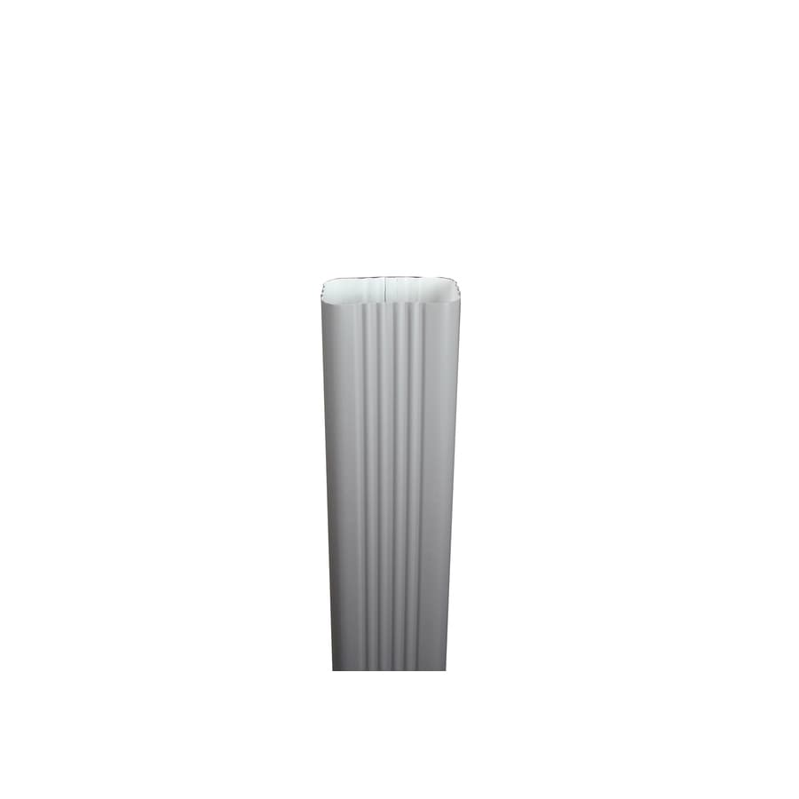 Spectra 2-in Dove Gray Metal Downspout