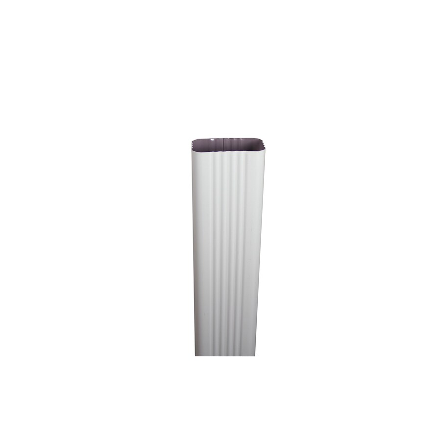 Spectra 3-in High Gloss White Metal Downspout