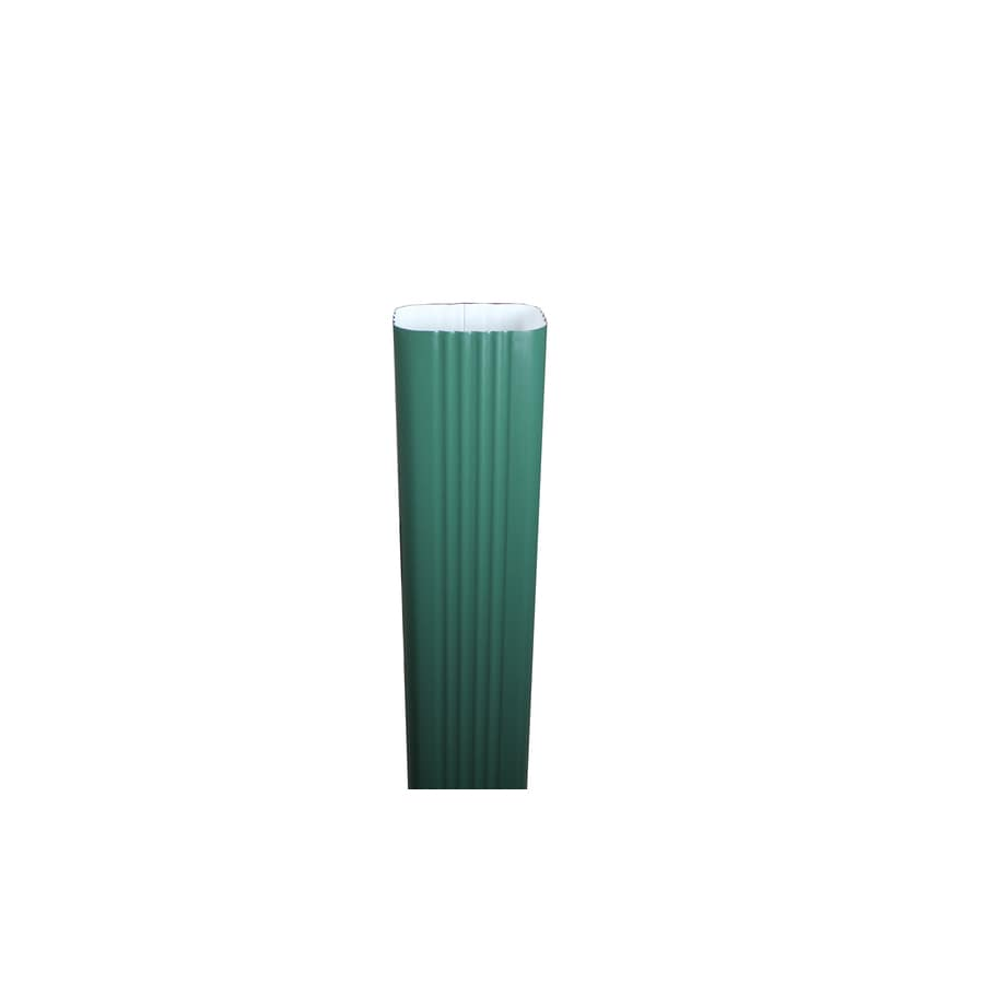 Spectra 3-in Forest Green Metal Downspout
