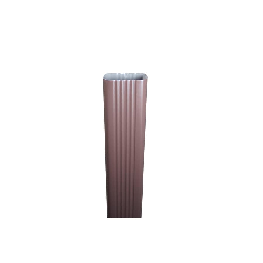 Spectra 3-in Royal Brown Metal Downspout