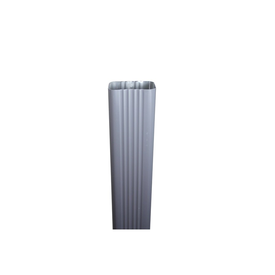 Spectra 3-in Tuxedo Gray Metal Downspout