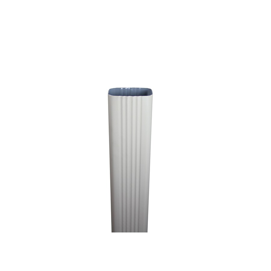 Spectra 3-in Wicker White Metal Downspout