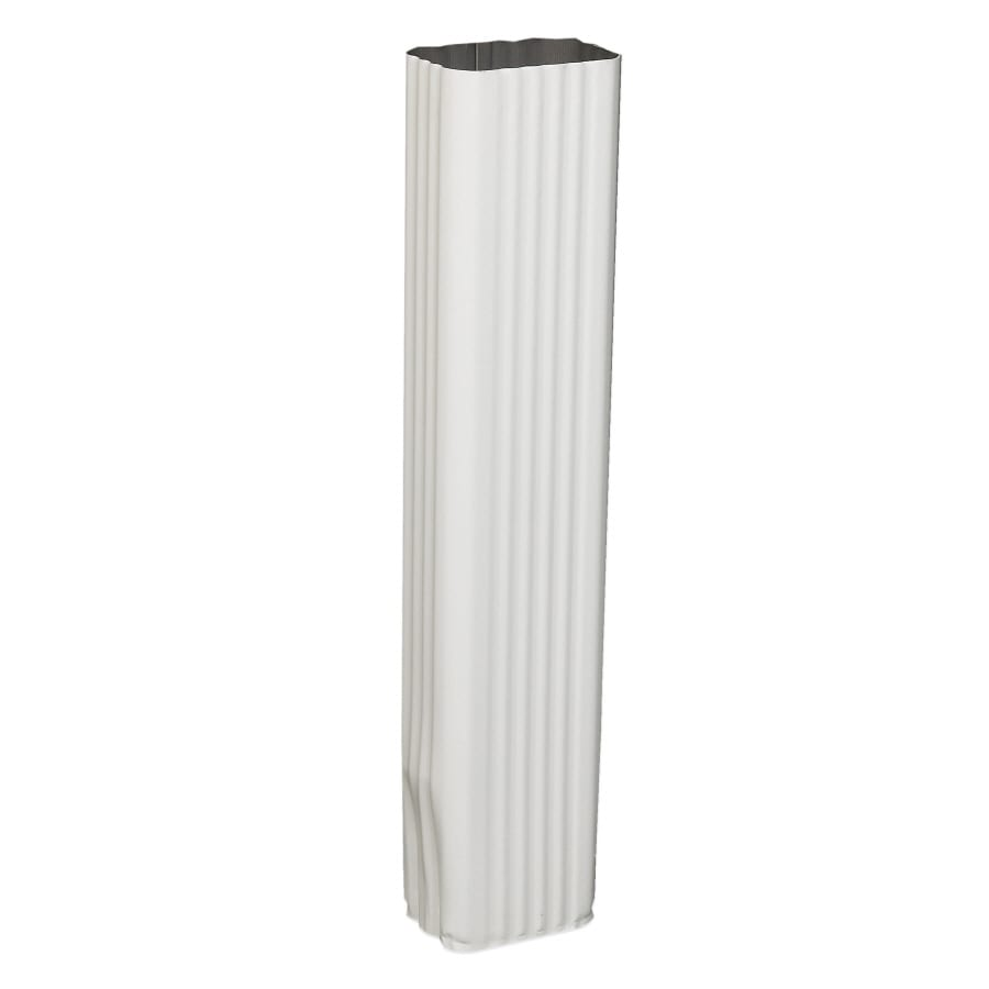 Spectra 2-in White Metal Downspout Extension