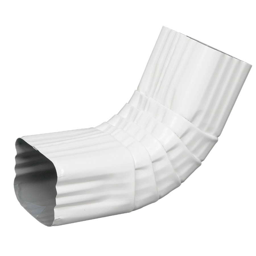 Spectra 3-in White Metal Front Elbow