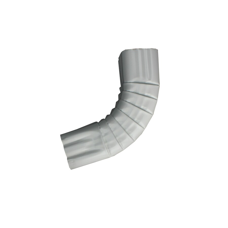 Spectra 3-in Low Gloss White Metal Front Elbow