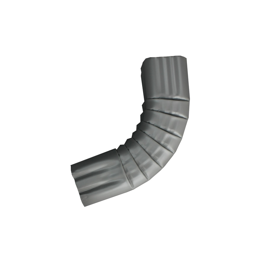 Spectra 3-in Dove Gray Metal Front Elbow