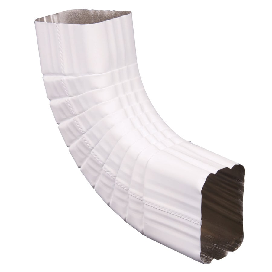 Spectra 3-in White Metal Side Elbow