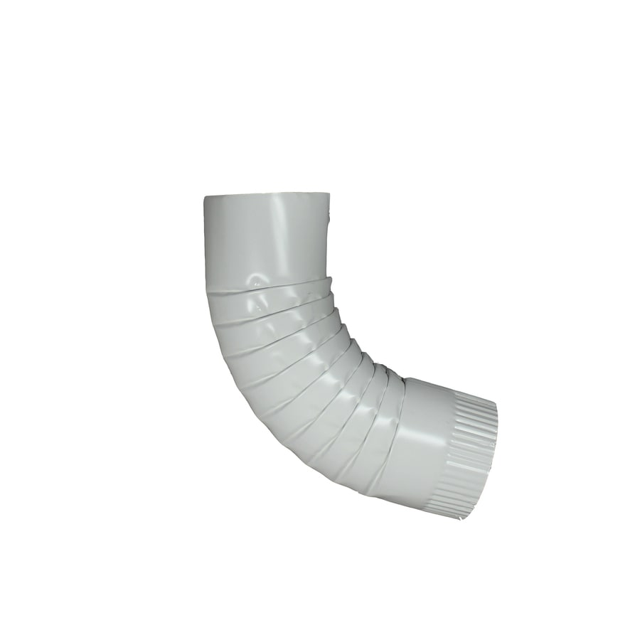Spectra 4-in Low Gloss White Metal Front Elbow