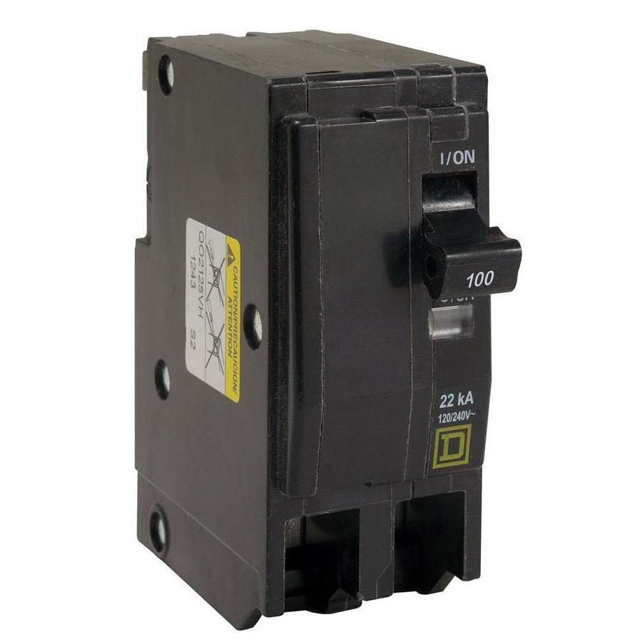 Square D QO 100-Amp 2-Pole Circuit Breaker