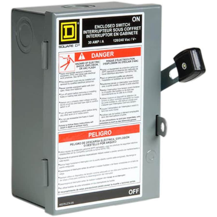 shop square d 30 amp fusible metallic disconnect at lowes com rh lowes com Mustang Battery Disconnect Switch Wiring Wiring a Battery Disconnect Switch