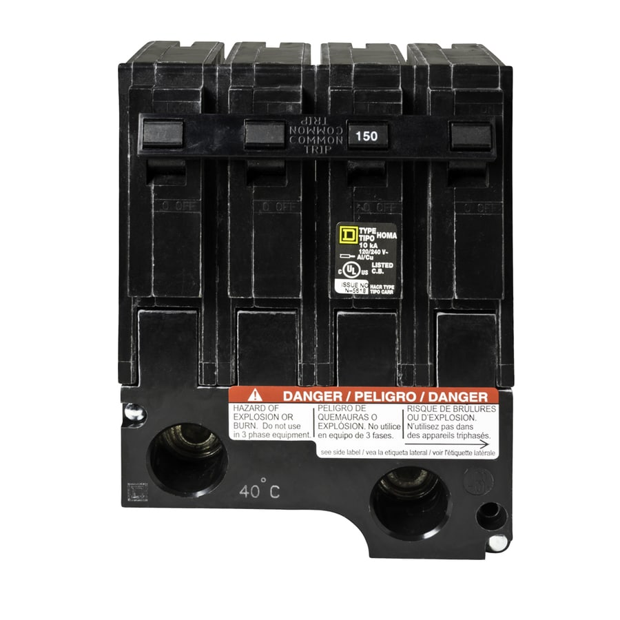 Square D Homeline 150-Amp 2-Pole Double-Pole Circuit Breaker