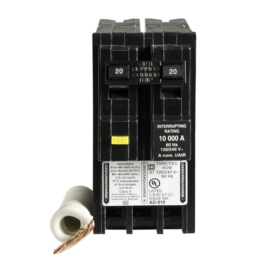 Square D Homeline 20 Amp 2 Pole Main Circuit Breaker At Lowescom