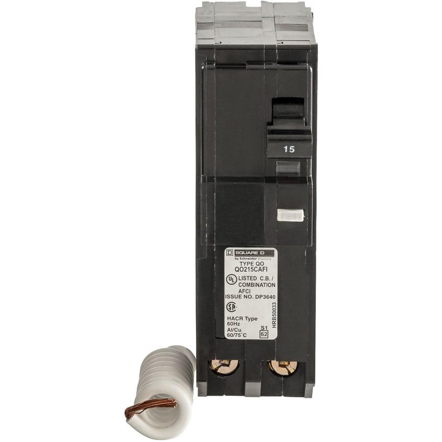 Square D QO 15-Amp 2-Pole Combination Arc Fault Circuit Breaker