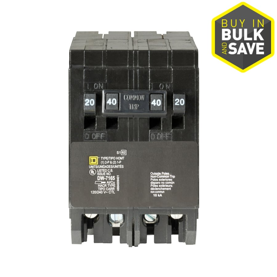 Square D Homeline 40-Amp 4-Pole Quad Circuit Breaker