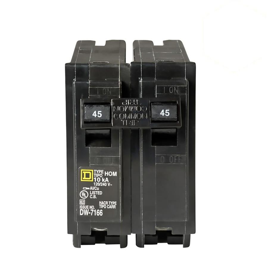Square D Homeline 45-Amp 2-Pole Circuit Breaker