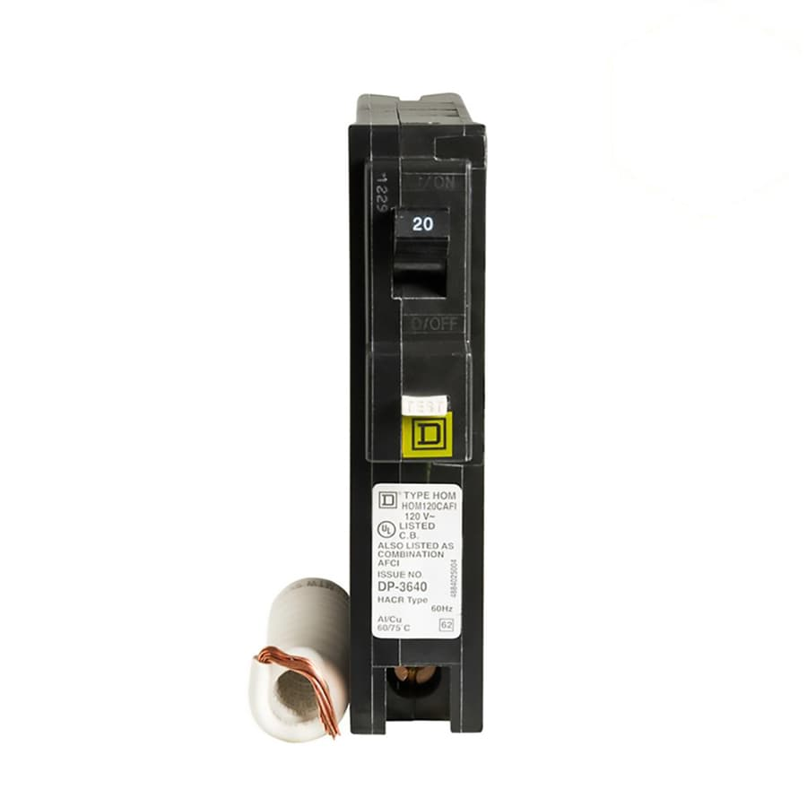 Square D Homeline 20-Amp 1-Pole Combination Arc Fault Circuit Breaker