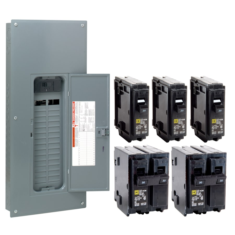 Square D 40-Circuit 30-Space 200-Amp Main Breaker Load Center (Value Pack)