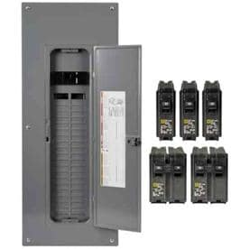 breaker boxes at lowes comsquare d homeline qwik grip 80 circuit 40 space 200 amp main