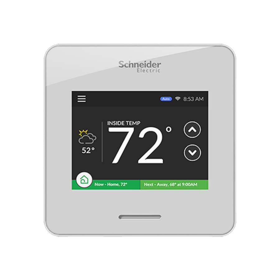 Schneider Electric White Air Thermostat with Wifi compatibility