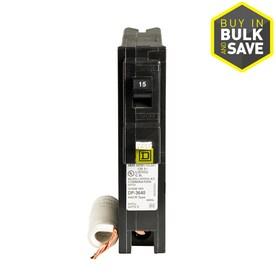 Square D Homeline 15-Amp 1-Pole Combination Arc Fault Circuit Breaker