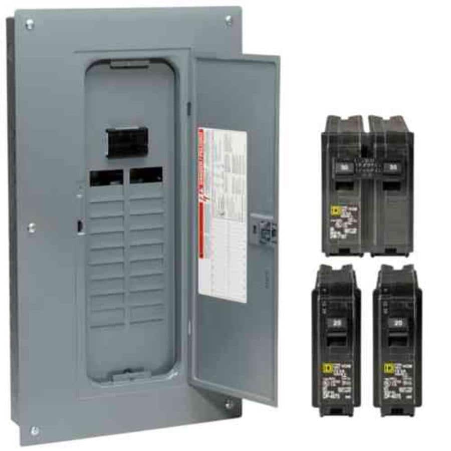 Square D 40-Circuit 20-Space 100-Amp Main Breaker Plug-On Neutral Load Center (Value Pack)