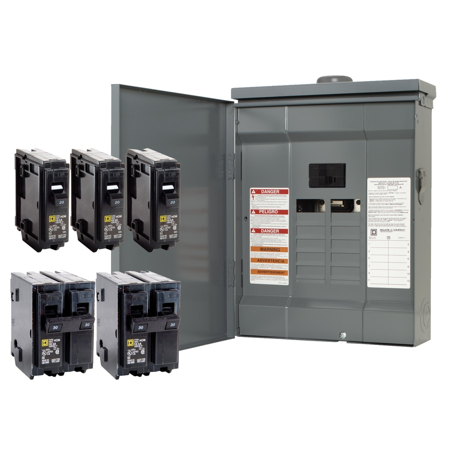 Square D 24-Circuit 12-Space 125-Amp Main Breaker Load Center (Value Pack)