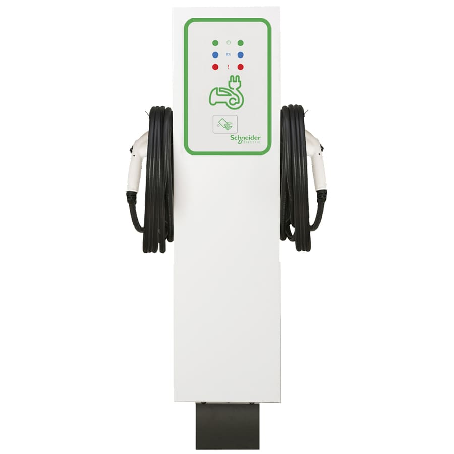 Schneider Electric Evlink Level 2 30-Amp Freestanding Dual Electric Car Charger with RFID