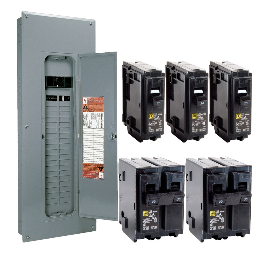 Square D 40-Circuit 40-Space 200-Amp Main Breaker Load Center (Value Pack)