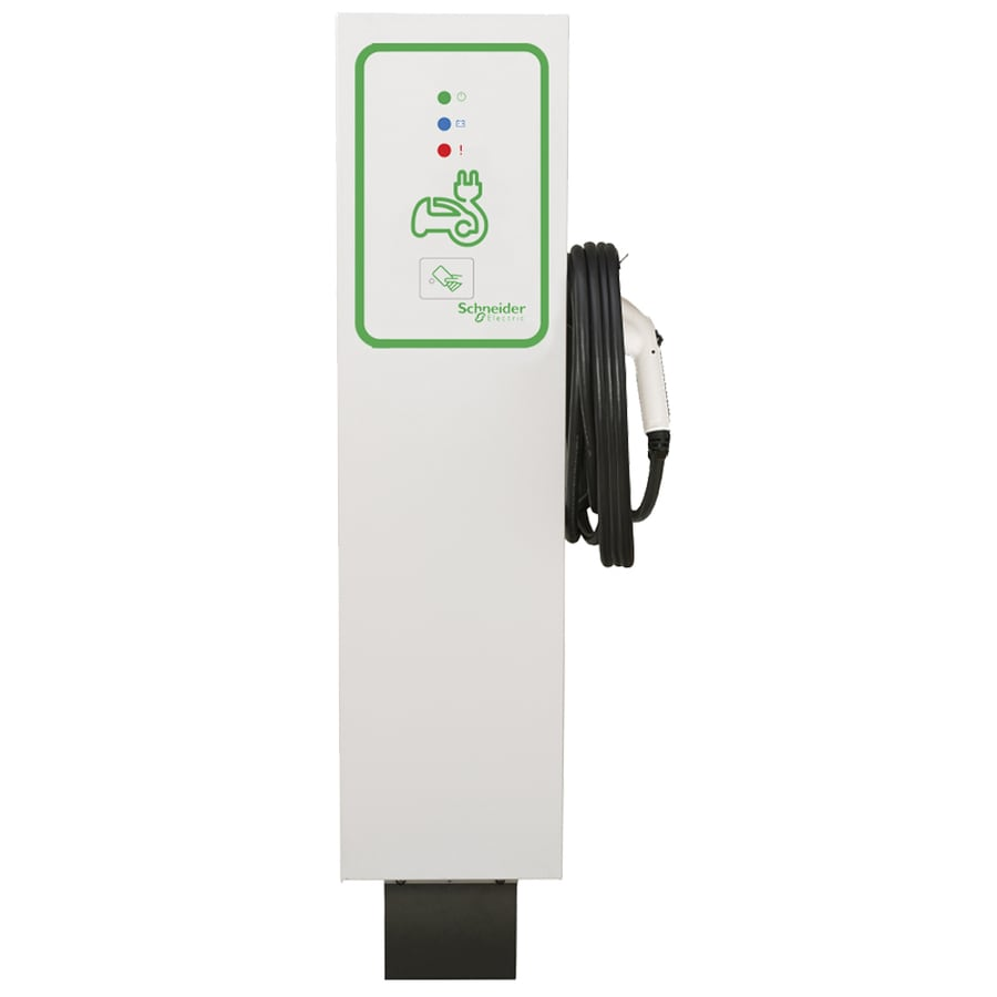 Schneider Electric Evlink Level 2 30-Amp Freestanding Single Electric Car Charger