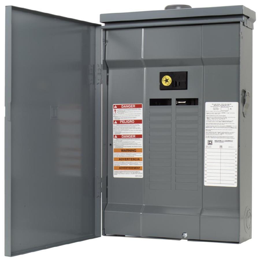 Square D 20-Circuit 20-Space 100-Amp Main Breaker Load Center