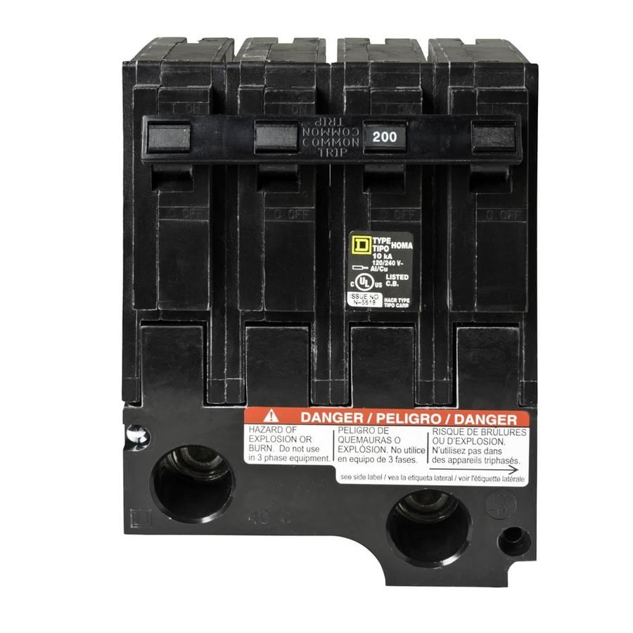 Shop Square D Homeline 200-Amp 2-Pole Standard Trip Circuit Breaker ...