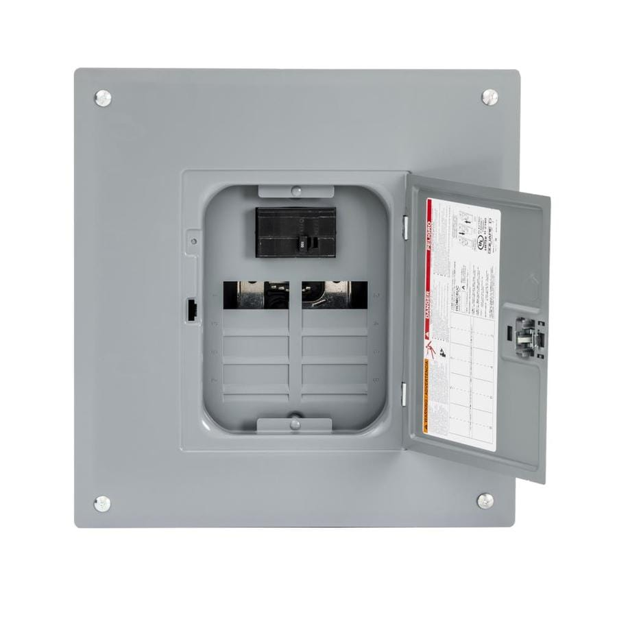 Square D Homeline 16-Circuit 8-Space 100-Amp Main Breaker Plug-On Neutral Load Center