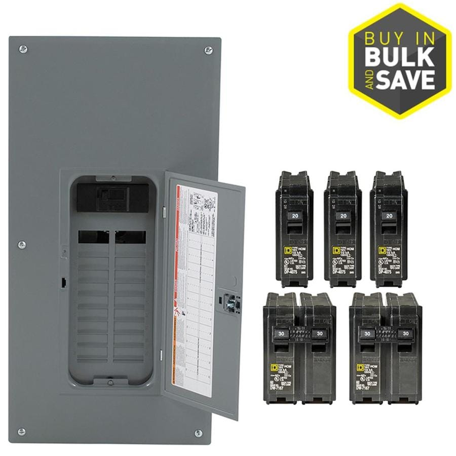 Square D 40-Circuit 20-Space 200-Amp Main Breaker Plug-On  sc 1 st  Loweu0027s & Shop Breaker Boxes at Lowes.com Aboutintivar.Com