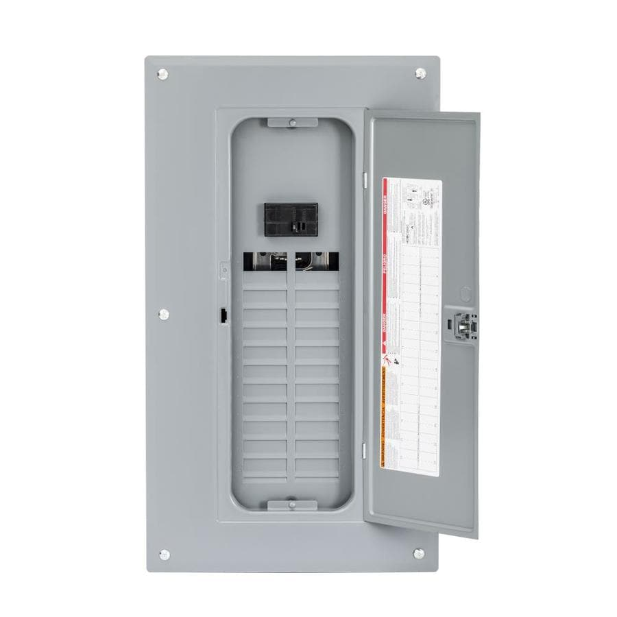 Square D 48-Circuit 24-Space 125-Amp Main Breaker Load Center