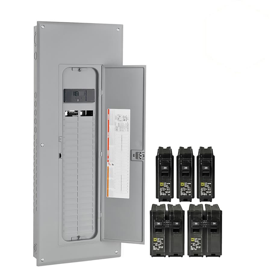 Shop Circuit Breakers Breaker Boxes Fuses At Cutler Hammer Fuse Box Square D Homeline 80 40 Space 200 Amp Main Plug