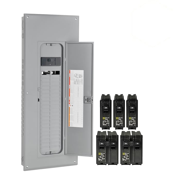 Square D 200 Amp 40 Spaces 80 Circuit Main Breaker Plug On Neutral Load Center Value Pack In The Breaker Boxes Department At Lowes Com