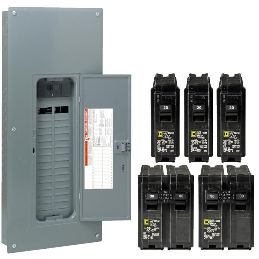 Square D 60-Circuit 30-Space 150-Amp Main Breaker Load Center (Value Pack)