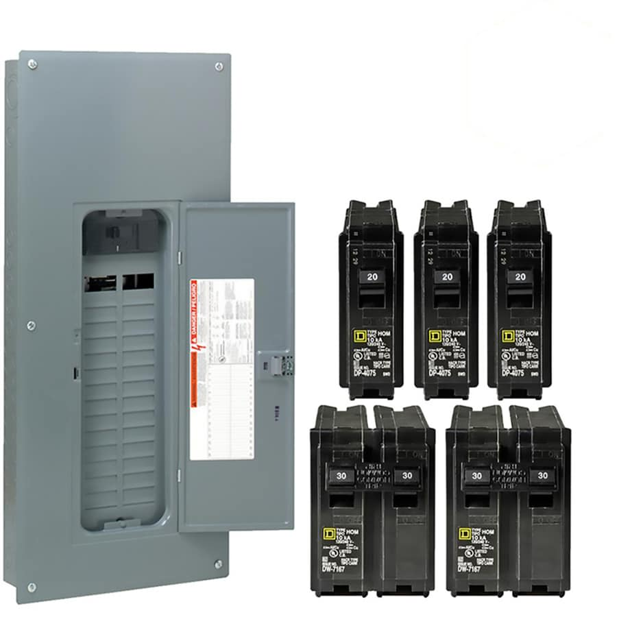 Shop Breaker Boxes At Enclosed Circuit Enclosure Square D Homeline 60 30 Space 200 Amp Main Plug