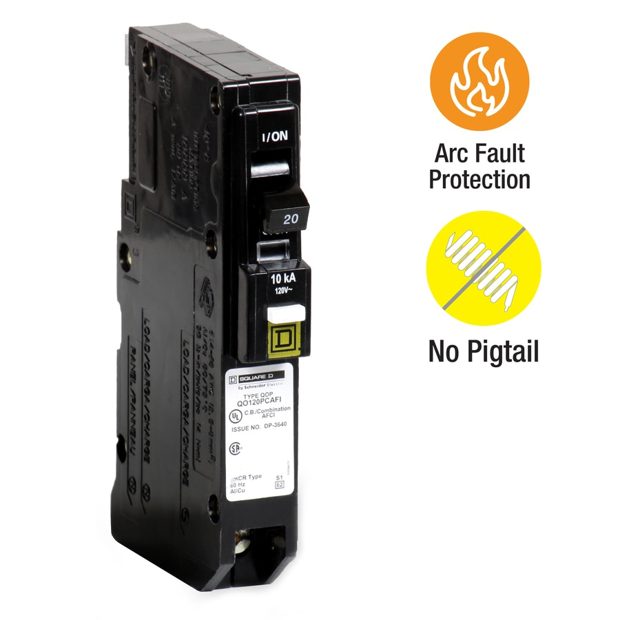 Shop Square D Qo 20 Amp 1 Pole Combination Arc Fault