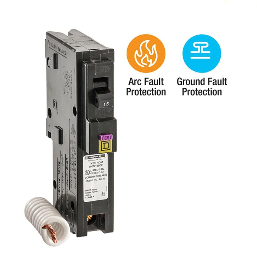 Square D Homeline 15-Amp 1-Pole Single-Pole Circuit Breaker